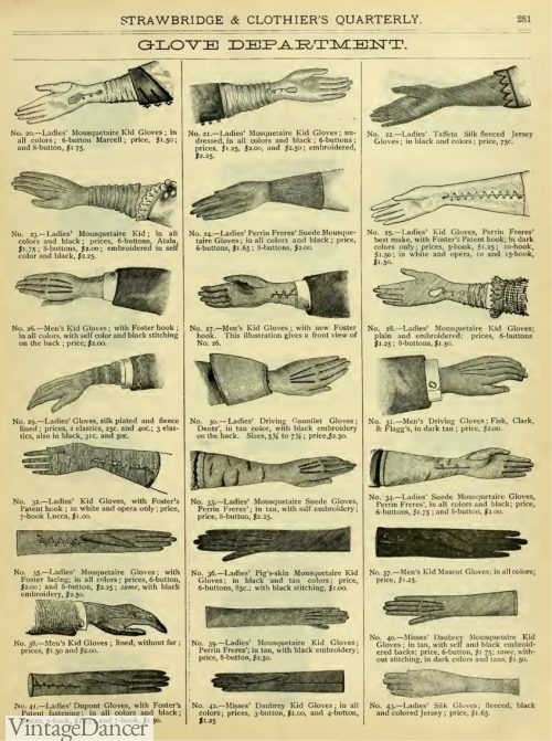 1882 gloves for daywear- fingerless, cotton, knit, and gauze