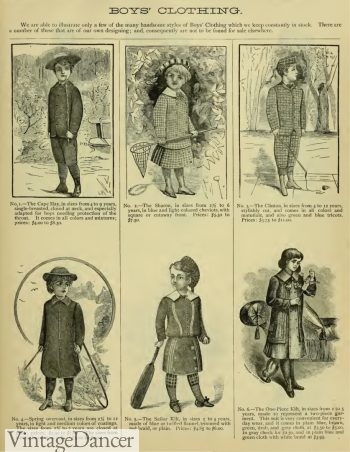 1883 Victorian boys clothing & fashion for children