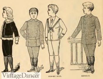 1894 Victorian children boys play outfits