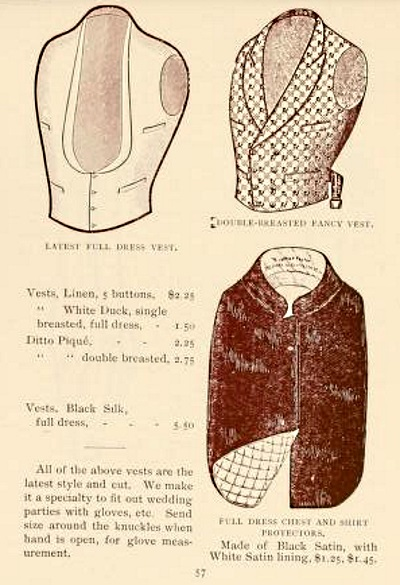 1894 men's waistcoats and undervest