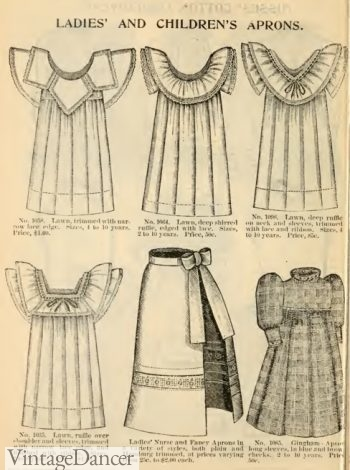 1895 Victorian girl's aprons