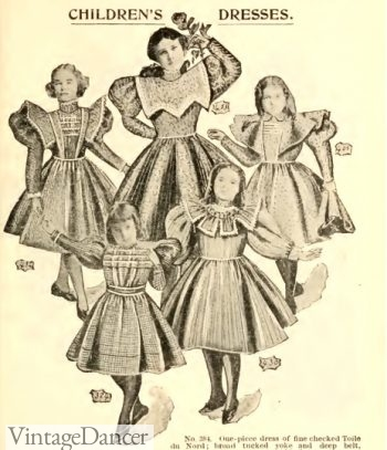 1897 girls day dresses Victorian era