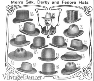 1906 Edwardian Men's Hats