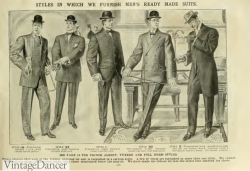 1906 men's suits, Edwardian era mens fashion