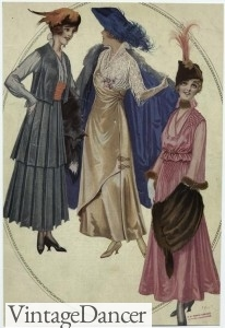 1915 edwardian fashion - made to order dresses