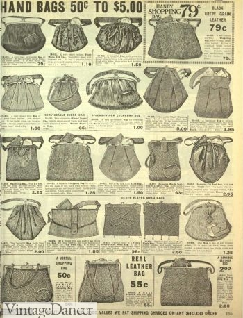 1916 leather purses