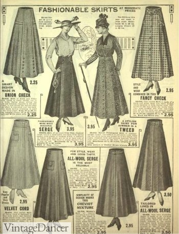 1916 Edwardian Skirts. Click to see more Edwardian skirts.