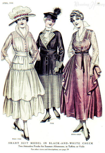 1916 afternoon party dresses