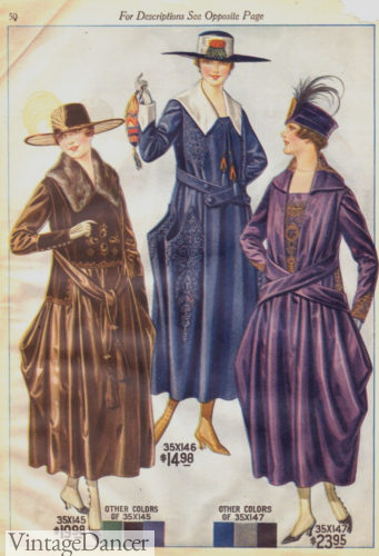 1917 dresses with unique belt ties