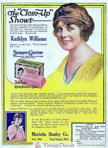 1917 beauty and makeup ad