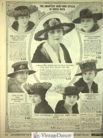 1918 spring hats