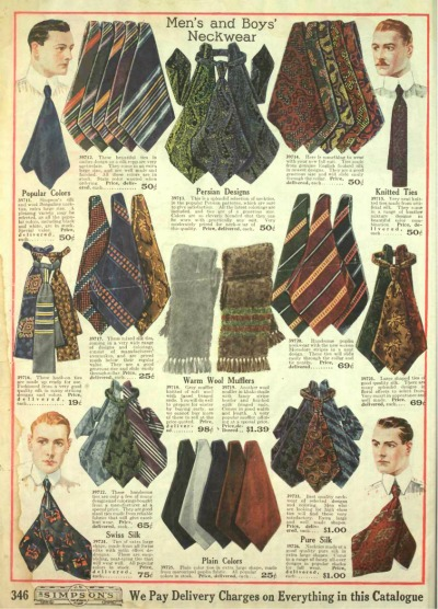 1918 mens edwardian neck ties bow ties
