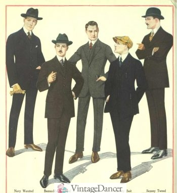 1918 men's suits, young and fresh