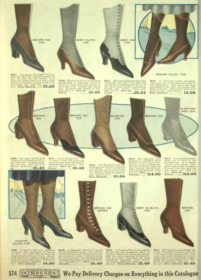 1918 women's boots and shoes