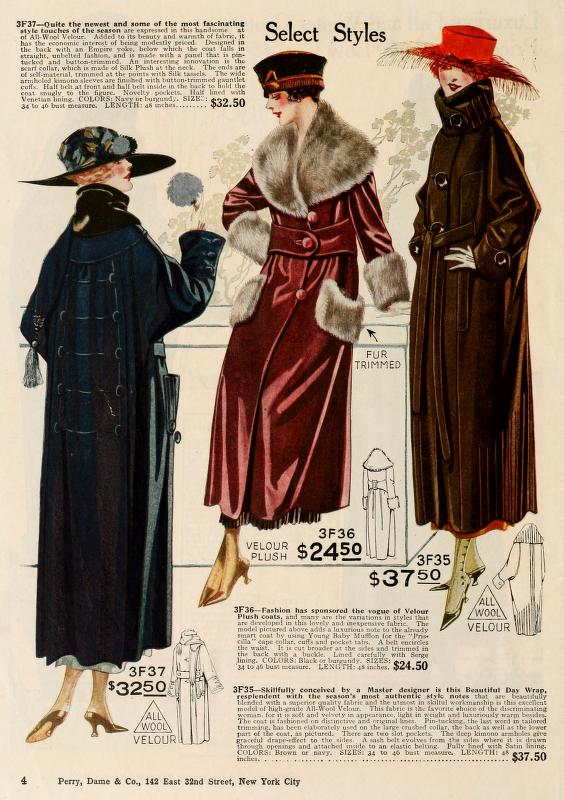 1919 womens winter coats jackets furs