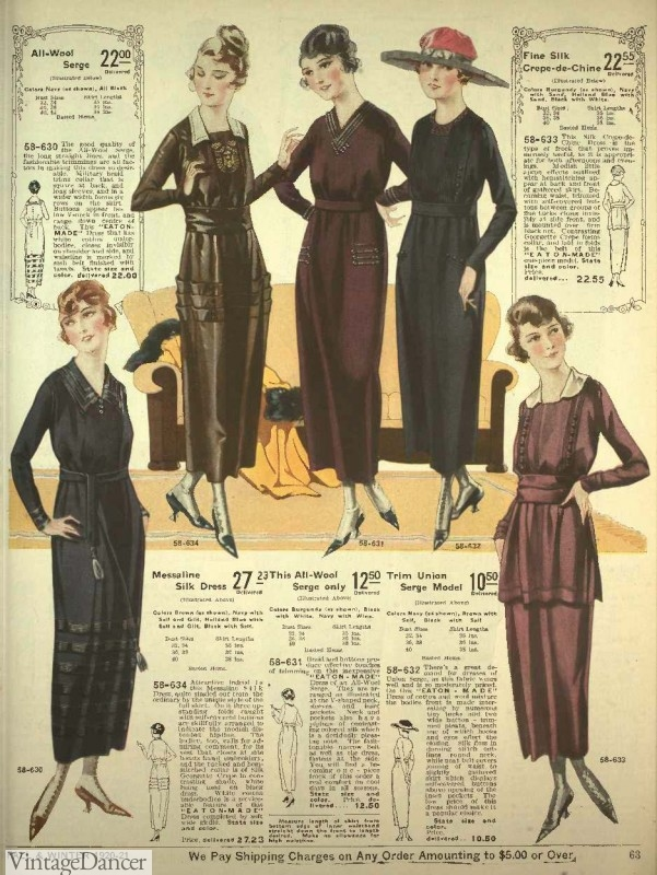 1920s winter dresses fashion clothing