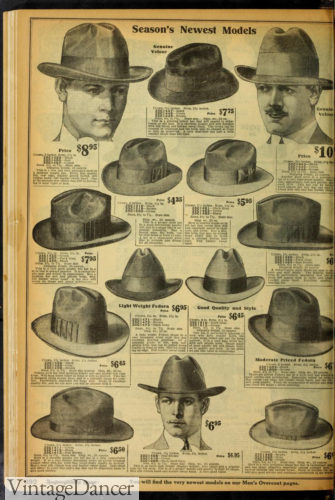 1920 mens fedora hats