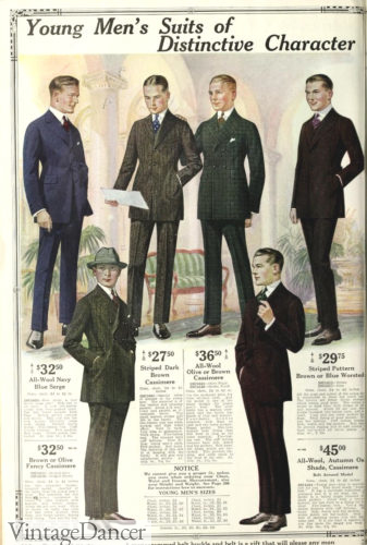 1920 Young men's suits, new colors