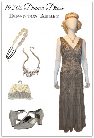 1920s dinner dress evening gown for Downton Abbey costume. Geth the look at  Vintagedancer com 80db0b0d6c8b