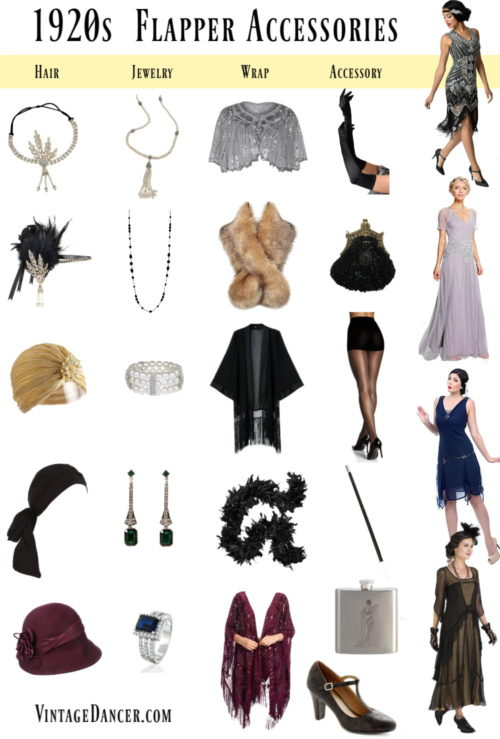 Mix and match accessories for a unique 1920s flapper costume