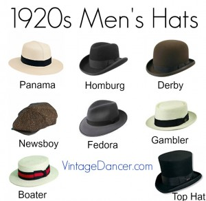 9c29d1cc346 1920s Mens Hats  Great Gatsby Era Hat Styles