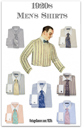 New 1920s Men's Dress Shirt Colors. Fidn them at VintageDancer.com