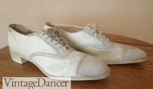antique 1920s white shoes
