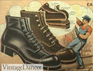 1920s work boots and shoes