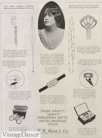 1922 Art Deco earrings, necklace, watch, hair clip