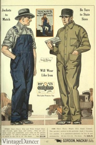 Men\'s Vintage Workwear - 1920s, 1930s, 1940s, 1950s