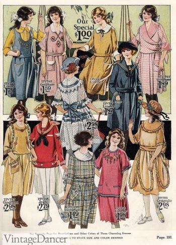 1922 Older Girls. Young Teenager Dresses