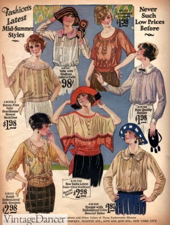 1922 mid summer blouses