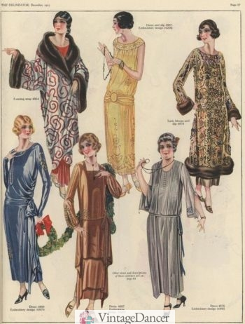 1923 evening dress and opera coat