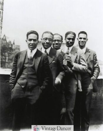 1924 From left to right Langston Hughes Charles S. Johnson, E. Franklin, Frazie Rudolph Fisher, and Hubert T Delany