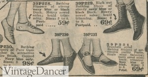 1920s swim shoes bathing shoes boots