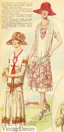 1926 Embroidered white dresses