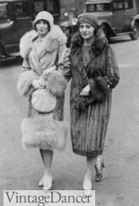 1920s fur coats and capes