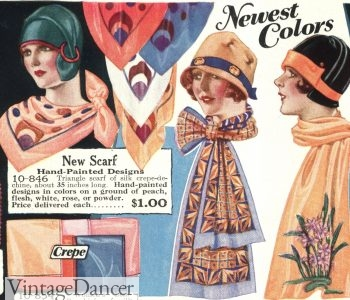 1920s ways to tie a silk scarf