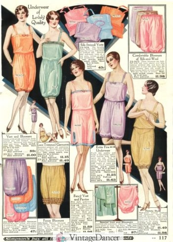 1928 bloomers underwear