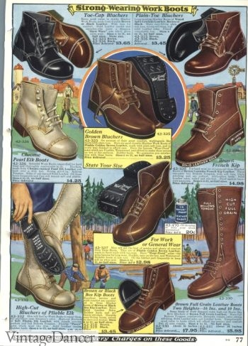 1928 men's work boots for winter