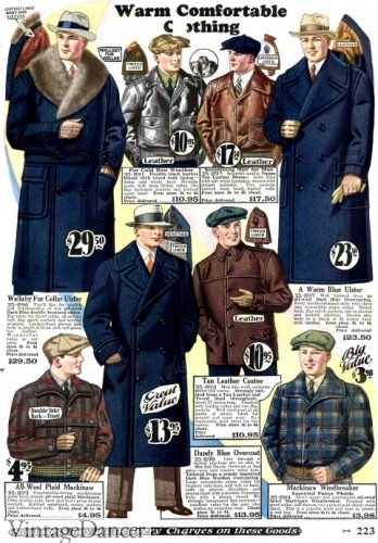 1928 mens coats, jackets and hats