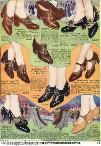 1928 oxfords shoes (at spats/gaiters too!)