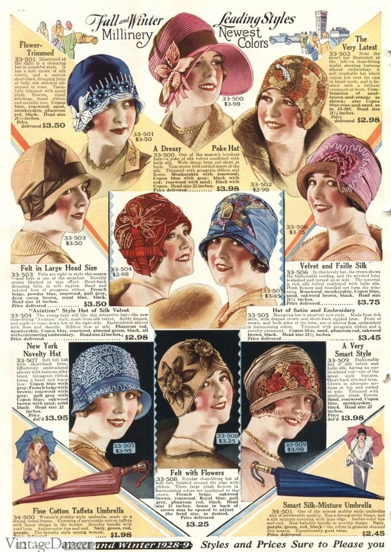 21617a43ebe 1920s Hat Styles for Women- History Beyond the Cloche Hat