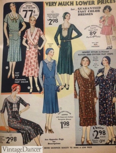 1930s day dresses 1930 1931