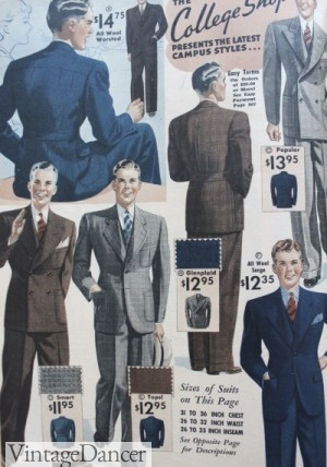 1930s young men suit fashion at VintageDaner.com