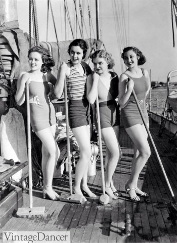 1930s swimsuits, bathing suits, swimwear. Shop these styles at Sahafah24.info/1930s