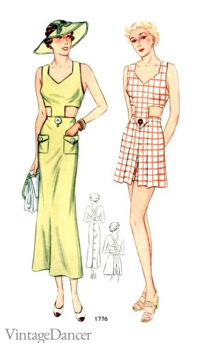 Beautiful beach styles from the 1930s.