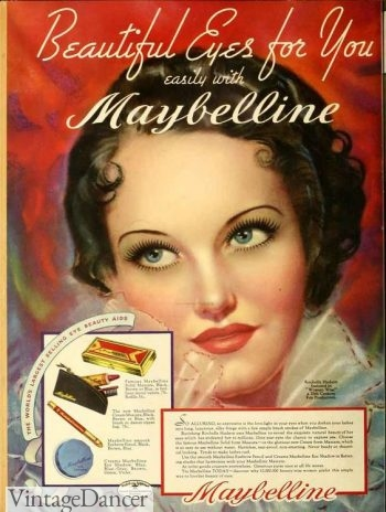 1930s makeup: Glamorous eyes for day or night