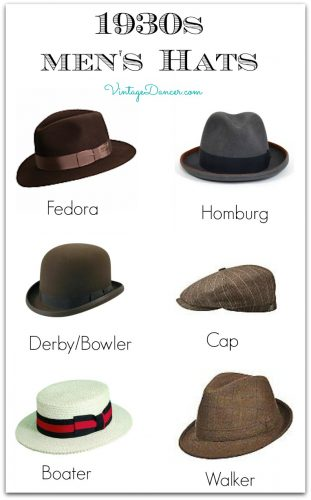 New 1930s inspired men hats in classic 30s shapes