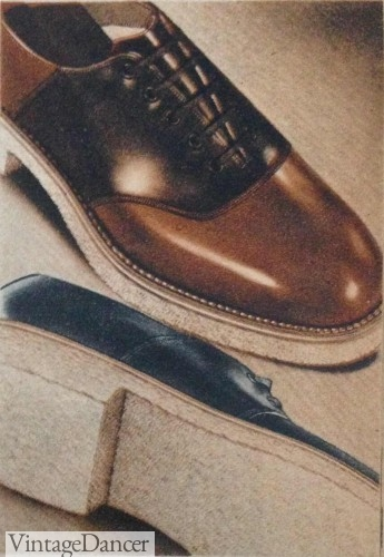 1930s mens saddle shoes